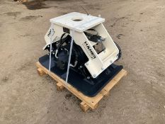 NEW AND UNUSED HANER HPC600 COMPACTION PLATE, PIPES ARE INCLUDED *PLUS VAT*