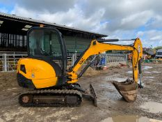 2013 JCB 8026 2.6 TON DIGGER, RUNS DRIVES AND DIGS, SHOWING A LOW AND GENUINE 3379 HOURS *PLUS VAT*
