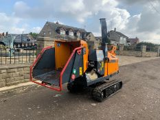 2016 FORST DIESEL TRACKED WOOD CHIPPER, RUNS DRIVES AND WORKS WELL, 771 HOURS *PLUS VAT*