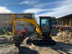 2012 JCB 8026 2.6 TON DIGGER, RUNS DRIVES AND DIGS WELL, SHOWING A LOW AND GENUINE 3045 HOURS