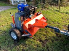 2021 1.2 METRE TOW BEHIND FLAIL MOWER, RUNS AND CUTS WELL, 15hp PETROL ENGINE *PLUS VAT*