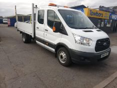2015/65 FORD TRANSIT 350 DROPSIDE TAIL LIFT, 54K MILES WITH 4 SERVICE HISTORY STAMPS *PLUS VAT*