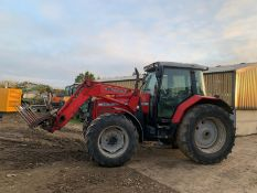 2002 MASSEY FERGUSON 6270 POWER CONTROL 100hp 4WD TRACTOR WOTH FRONT LOADER AND SPIKE *PLUS VAT*