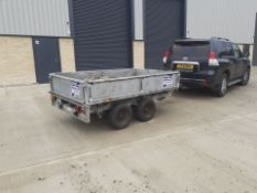 IFOR WILLIAMS LM85G FLAT BED TRAILER WITH SIDES *NO VAT*