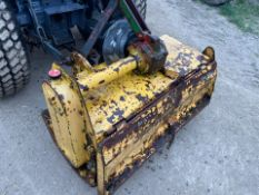 YELLOW ROTAVATOR, SUITABLE FOR COMPACT TRACTOR, IN WORKING ORDER, 3 POINT LINKAGE *PLUS VAT*
