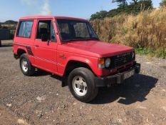 1987 MARK ONE MITSUBISHI SHOGUN SWB V6, SHOWING 122,000 MILES, A CLASSIC BARN FIND *NO VAT*