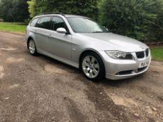 2007 BMW 325D SE TOURING A SILVER ESTATE, 3.0 DIESEL, AUTO 6 GEARS, 210,176 MILES *NO VAT*