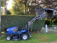 2010 ISEKI SXG19 HIGH TIP RIDE ON MOWER, RUNS DRIVES CUTS AND COLLECTS, A LOW 994 HOURS *PLUS VAT*