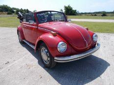 1972 (K) VOLKSWAGEN BEETLE CONVERTIBLE, 1600 TWIN PORT ENGINE, 4 SPEED MANUAL GEARBOX, LHD *NO VAT*
