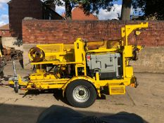KING CABLE RECOVERY EXTRACTOR WINCH, MODEL KING/BT P/PACK. YEAR 2013, TOWABLE TRAILER *NO VAT*