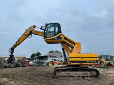 2009 JCB JS160LC 16 TON STEEL TRACKED EXCAVATOR, RUNS DRIVES AND WORKS WELL, HIGH RISING CAB