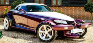 1998 CHRYSLER PLYMOUTH PROWLER V6 2 DOOR CONVERTIBLE, 3500cc PETROL ENGINE, AUTO *NO VAT*