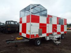 MOBILE CONTROL TOWER, ONBOARD GENERATOR, HEATING AND LIGHTING *PLUS VAT*