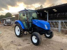 2016 NEW HOLLAND T455 55hp TRACTOR, RUNS DRIVES AND WORKS, CABBED, ROAD REGISTERED *PLUS VAT*