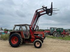 ZETOR CRYSTAL 8011 LOADER TRACTOR WITH FRONT LOADER, BALE SPIKE AND REAR WEIGHT, CABBED *PLUS VAT*