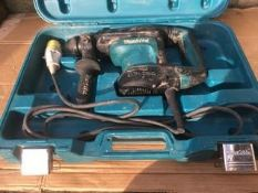 MAKITA HR3210C HAMMER DRILL SDS+ ROTARY 110v, USED, IN WORKIN GORDER *NO VAT*