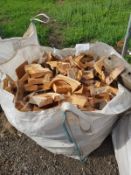 BAG OF FIREWOOD MIXED HARDWOOD AND SOFTWOOD, MAY HAVE NAILS IN *NO VAT*