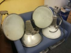 4 LARGE ALUMINIUM INDUSTRIAL LAMPS, IDEAL FOR RESTAURANT/BAR, SOLD WITHOUT PLUG *NO VAT*
