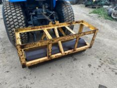 YELLOW CAGES ROLLER, SUITABLE FOR COMPACT TRACTOR, 3 POINT LINKAGE *PLUS VAT*