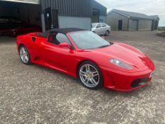 2006 FERRARI F430 SPIDER F1 CONVERTIBLE RED SPORTS CAR, SHOWING 3 FORMER KEEPERS *NO VAT*