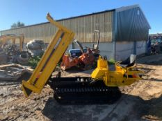 YANMAR C10R 1 TON TRACKED DUMPER, RUNS DRIVES AND TIPS, SHOWING A LOW 1406 HOURS *PLUS VAT*
