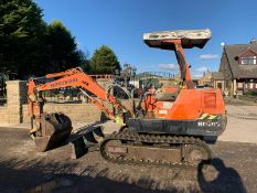 MITSUBISHI HM30SG-2 3 TON DIGGER, RUSN DRIVES AND DIGS WELL, SHOWING A LOW AND GENUINE 2955 HOURS