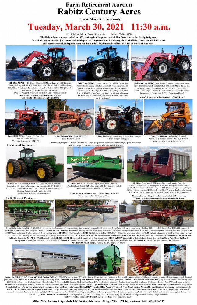 Rabitz Century Acres Farm Retirement Auction