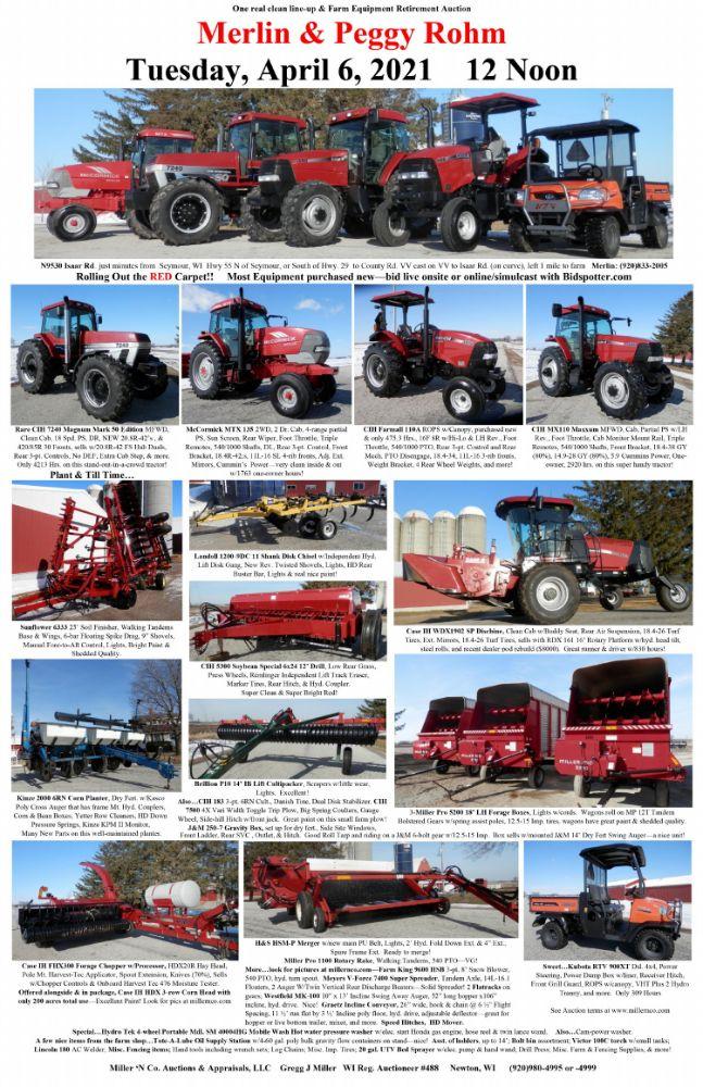 Farm Machinery Retirement Auction - Merlin & Peggy Rohm