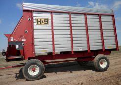 H&S 7+4 HD 16' LH ALL STEEL FORAGE BOX (WAGON B, SN 908793)
