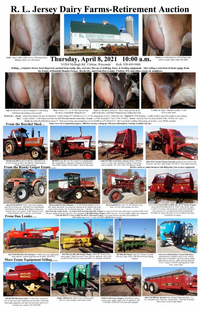 Retirement Auction for Rich Buechel's  - R.L. Jersey Dairy Farms