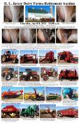 R.L Jersey Dairy Farms Retirement Auction, Thursday, April 8, 2021 10:00 a.m. Selling…complete