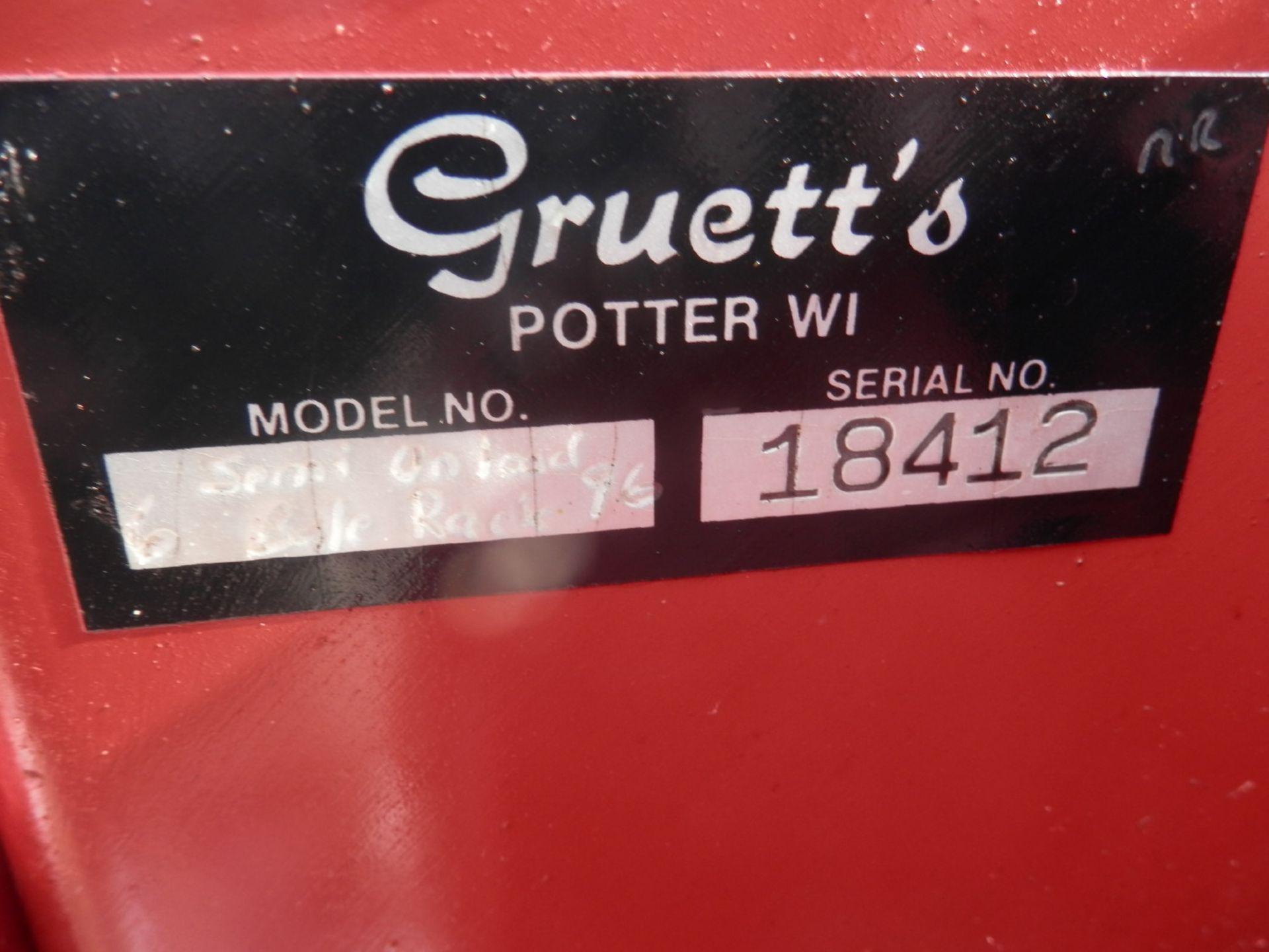 GRUETT 9x18 STEEL SIDE KICK BALE WAGON w/LIVE FLOOR (WAGON A-- SN 18412) - Image 8 of 9
