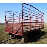 GRUETT 9X18 STEEL SIDE KICK BALE WAGON (WAGON B-SN 18413