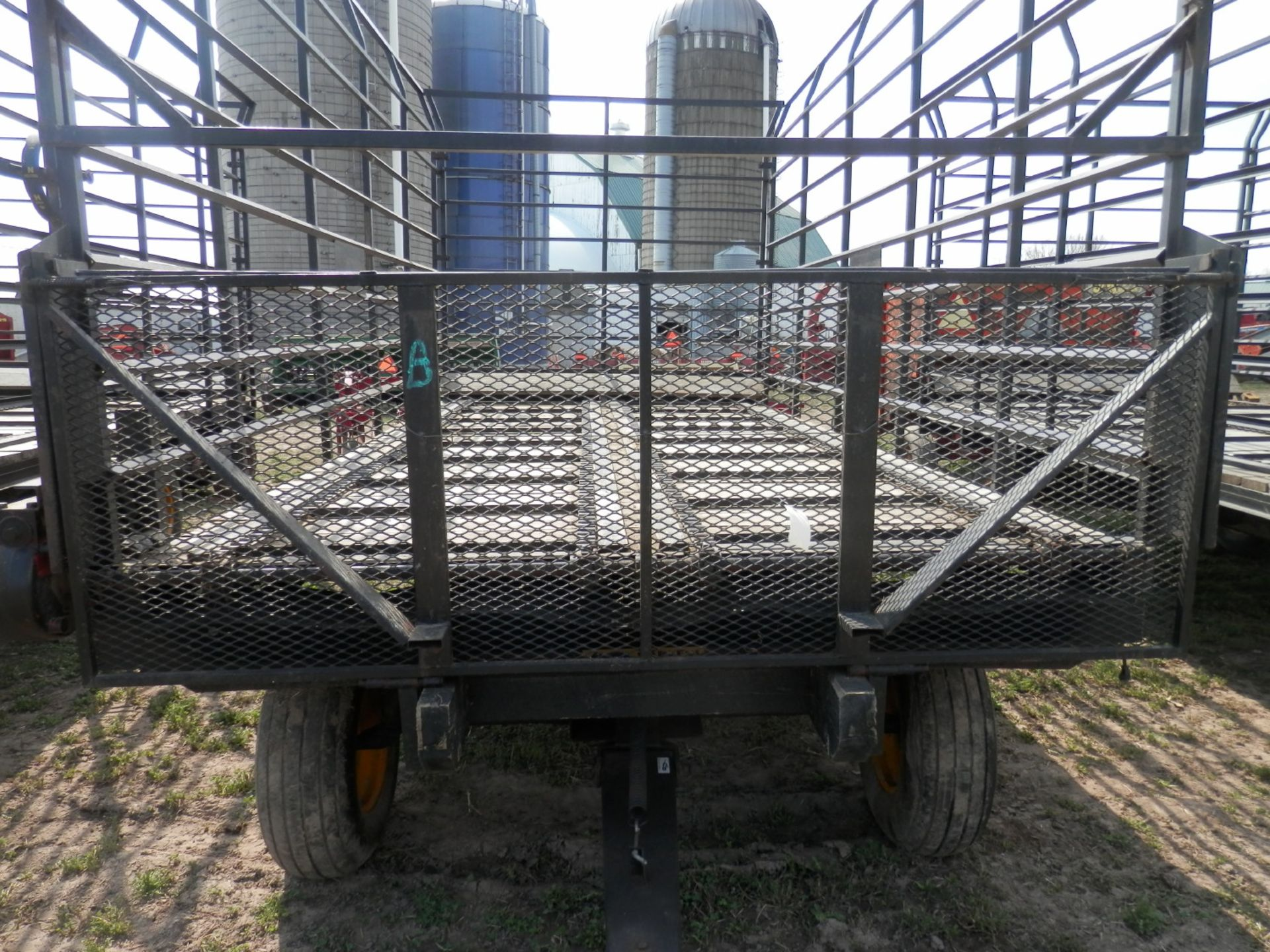 GRUETT 9X18 STEEL SIDE KICK BALE WAGONS, 3 AVAILABLE, SELLING CHOICE - Image 5 of 7