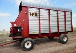 H&S 7+4 HD 16' LH ALL STEEL FORAGE BOX (WAGON A) SN 908795