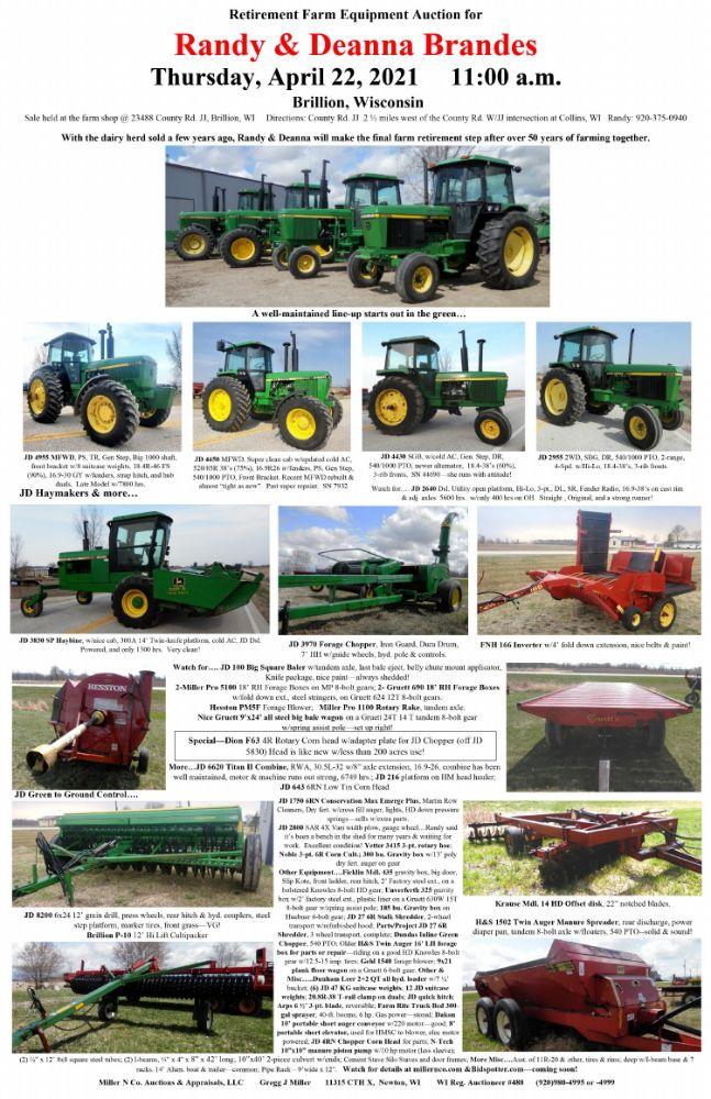 Retirement Farm Equipment Auction for Randy & Deanna Brandes