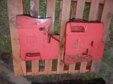 IH SUITCASE WEIGHTS, (9 Available, selling choice x $)