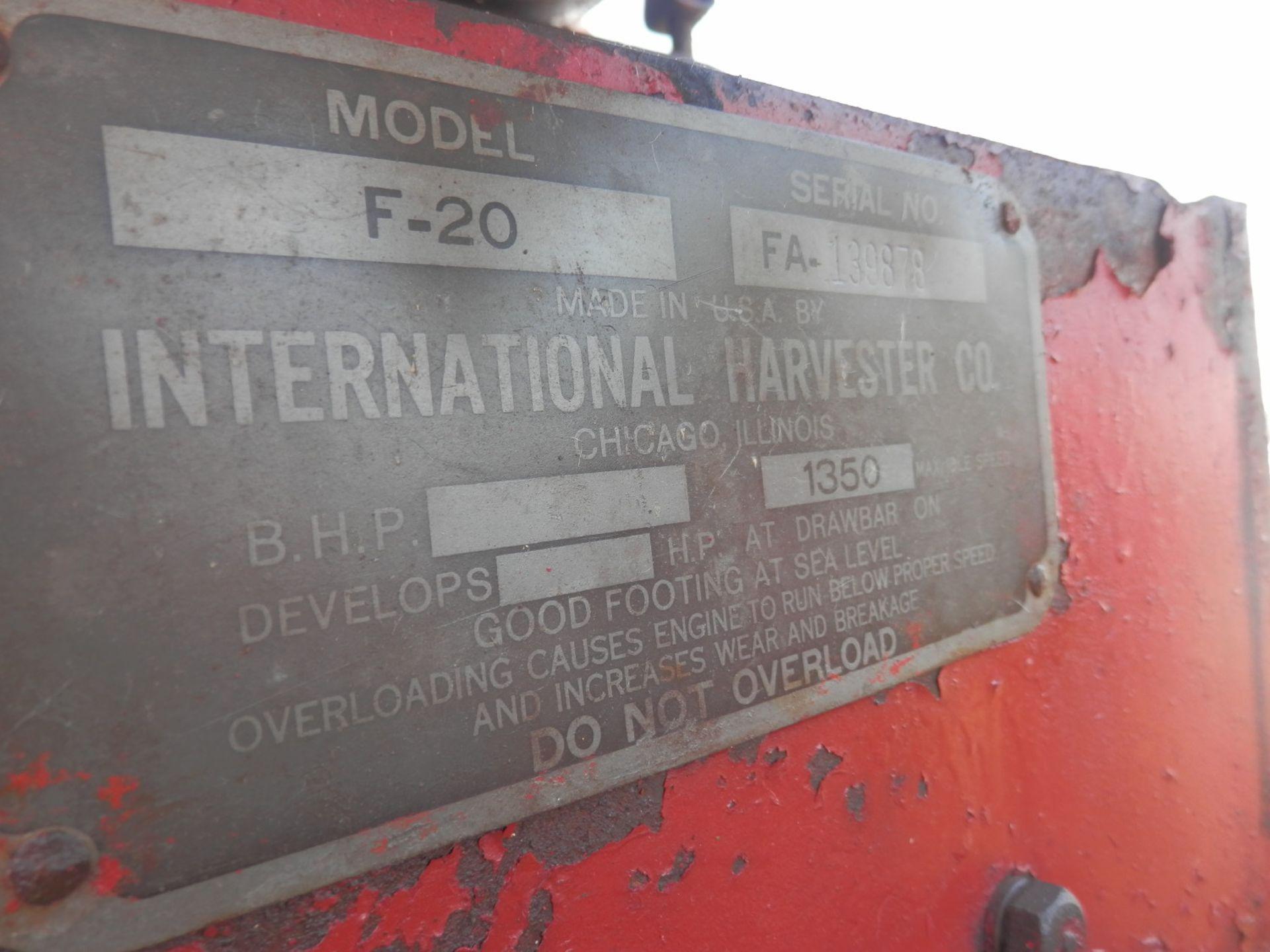 INTERNATIONAL HARVESTER F-20 TRACTOR - Image 9 of 10