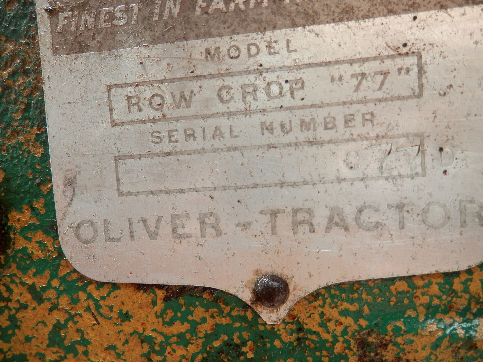 """OLIVER ROW CROP """"77"""" TRACTOR - Image 13 of 13"""