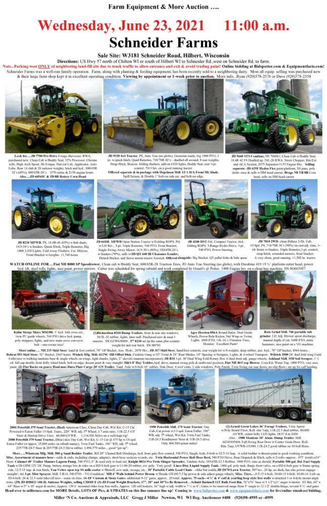 Schneider Farms—Hilbert, Wisconsin