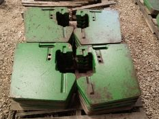 JOHN DEERE 47 KG SUITCASE WEIGHTS, SELLING CHOICE per weight X $