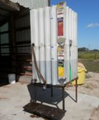 TWIN COMPARTMENT GRAVITY FLOW BULK OIL STORAGE