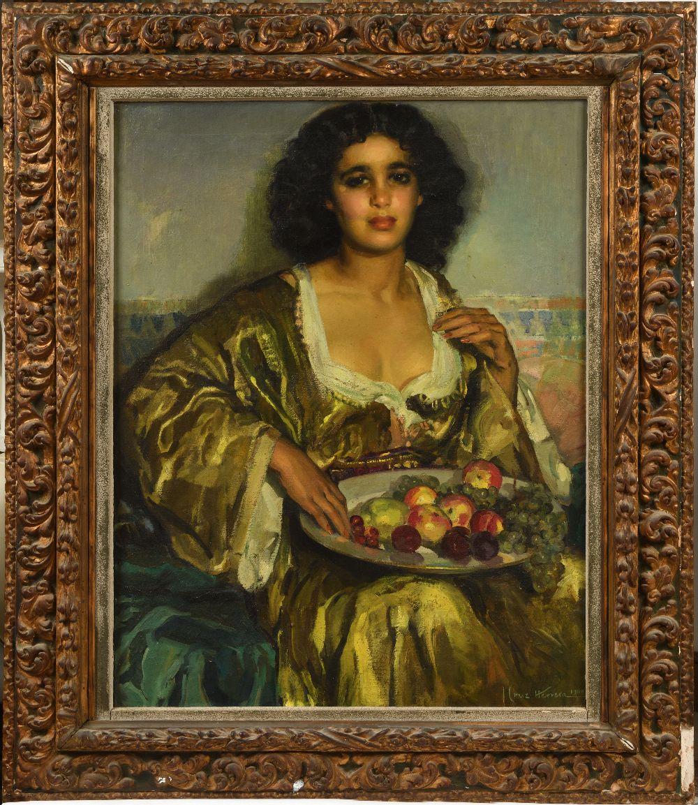 José CRUZ-HERRERA (La Linea de la Concepcion 1890-Casablanca 1972)Jeune fille au caftan jaune et à - Image 2 of 3