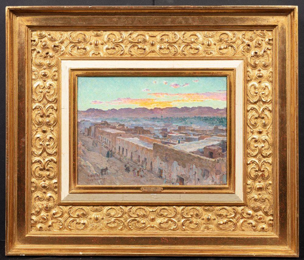 Etienne DINET (Paris 1861-1929)Coucher de Soleil sur LaghouatHuile sur toile d'origine 23.5 x 31.5 - Image 2 of 3