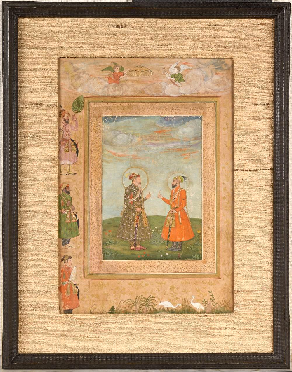 Double portrait de Shah Jahan et Aurengzeb-AlamguirDouble portrait de Shah Jahan (r.1628-1658) et - Image 2 of 8
