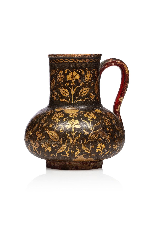 Verseuse ottomaneTurquie, vers 1800Jarre à panse globulaire et haut col tronconique, en terre