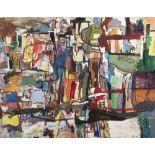 EDY LEGRAND (Bordeaux 1892-Bonnieux 1970)Paysage AbstraitHuile sur toile d'origine 114 x 146 cm