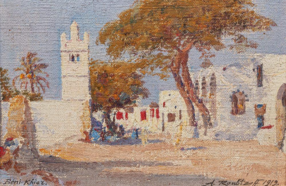 Alexandre ROUBTZOFF (Saint Petersbourg 1884 - Tunis 1949)Beni Khiar, 1919Huile sur toile marouflée