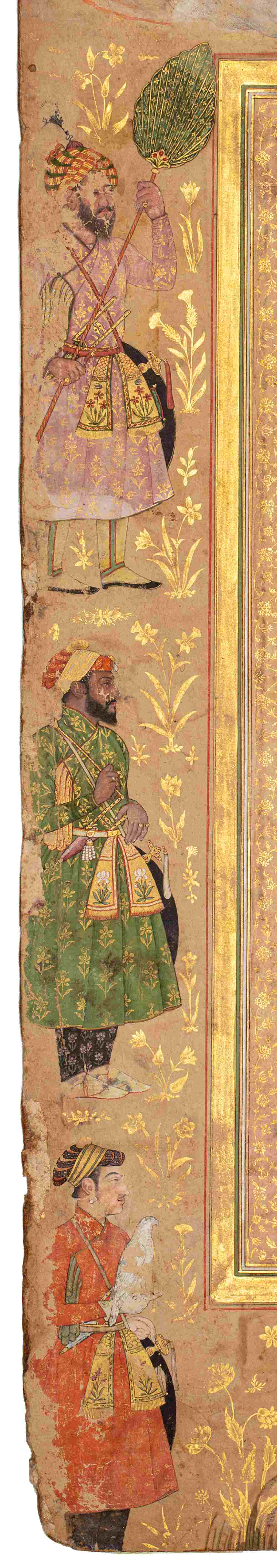 Double portrait de Shah Jahan et Aurengzeb-AlamguirDouble portrait de Shah Jahan (r.1628-1658) et - Image 7 of 8