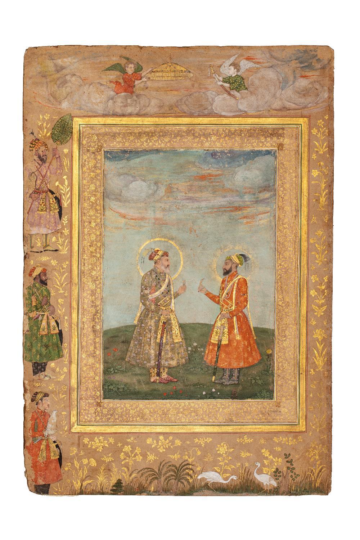 Double portrait de Shah Jahan et Aurengzeb-AlamguirDouble portrait de Shah Jahan (r.1628-1658) et